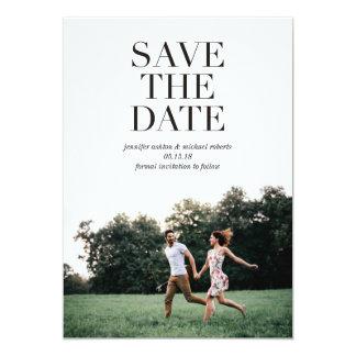 Clean Classic | Modern Save the Date Photo Card 13 Cm X 18 Cm Invitation Card