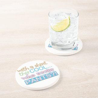 Clean Cute Humor Beverage Coaster