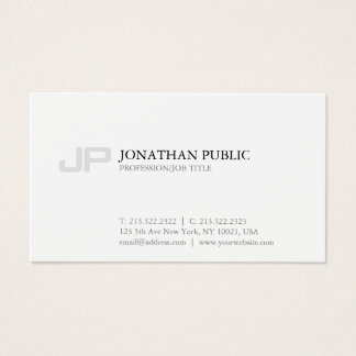 Clean Design Monogram Creative Plain Modern Business Card