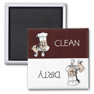 Clean Dirty Chef with Hat Dishwasher Magnet