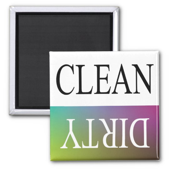 Clean dirty-Colourful dishwasher magnet