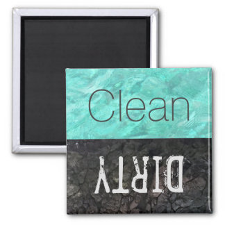 Clean | Dirty Dishes Dishwasher Square Magnet