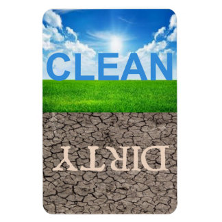 """Clean Dirty Dishwasher 4""""X6"""" magnet"""