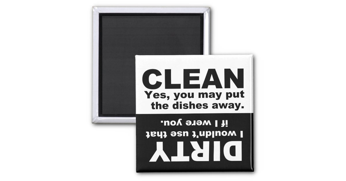 Clean Dirty Dishwasher Magnet Zazzle Com Au