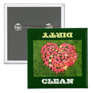 CLEAN DIRTY dishwasher magnets Dish washer Leaves Pin