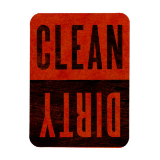 Clean | Dirty Dishwasher Red Watercolor Magnet