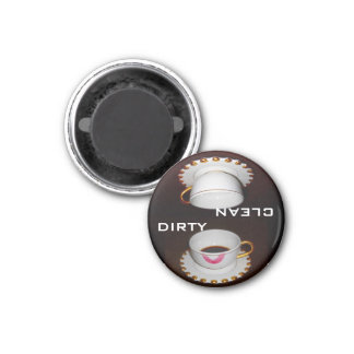 Clean Dirty Dishwasher Sign 3 Cm Round Magnet