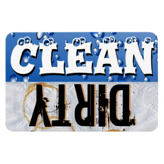 Clean & Dirty Dishwasher Vinyl Magnet