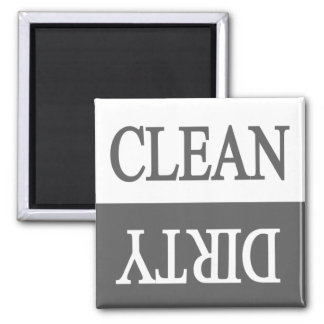 Clean dirty-grey dishwasher magnet