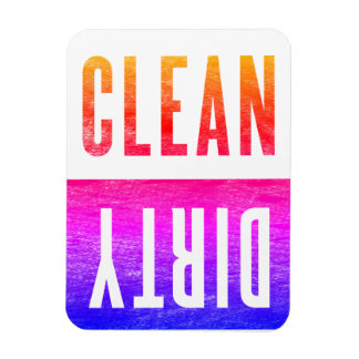 Clean | Dirty Letterpress Style Dishwasher Ipanema Rectangular Photo Magnet