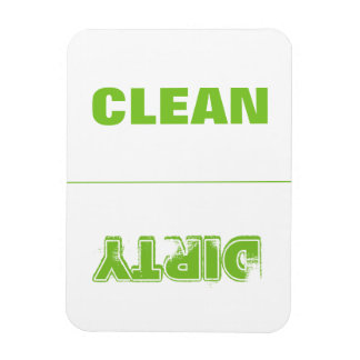 Clean Dirty (Lime Green) Rectangular Photo Magnet