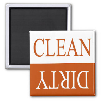 Clean dirty-Orange dishwasher magnet
