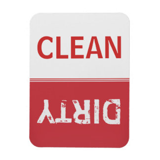 Clean Dirty Ruby Red Dishwasher Magnet