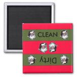 Clean dirty Santa Christmas Dishwasher Magnet