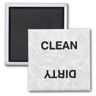 Clean Dirty Square Magnet