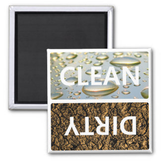 Clean Dirty With Customisable Background Colour Magnet