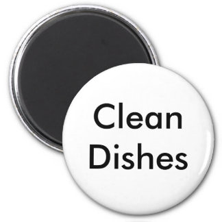 Clean Dishes 6 Cm Round Magnet