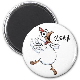 CLEAN  dishwasher (happy chicken) 6 Cm Round Magnet