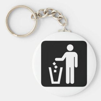 Clean Earth! Ecology products! Basic Round Button Key Ring