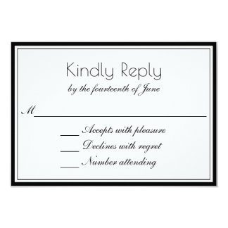 Clean Elegant RSVP with Any Color Border Card