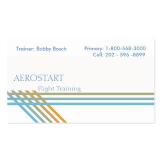 Clean Energetic Pinstripe Business Card