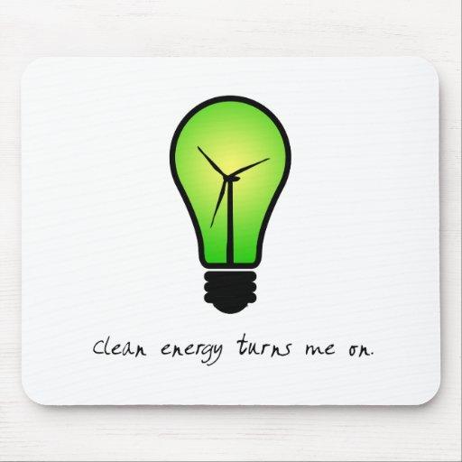 Clean Energy Bulb - Mousepad