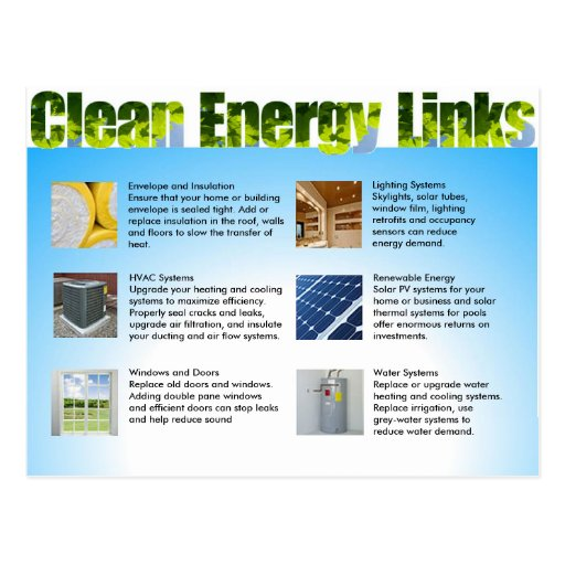 Clean Energy Business Marketing Double Sided Postcards