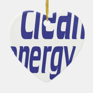 Clean energy ceramic heart decoration