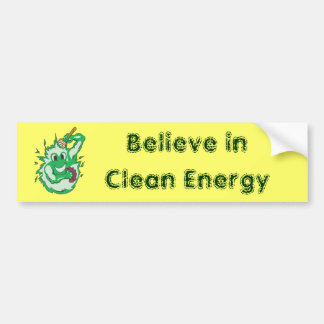 Clean Energy Green Colored Bumper Stickers