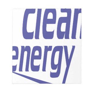 Clean energy notepad