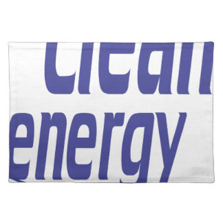 Clean energy placemat