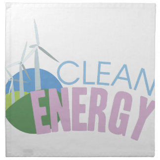 Clean Energy Printed Napkin
