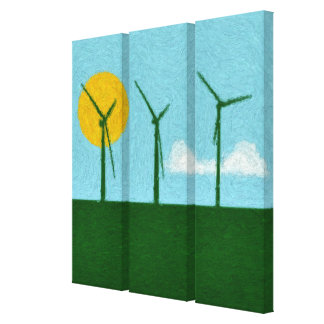 Clean Energy Stretched Canvas Prints