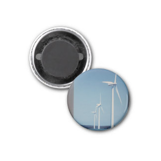 CLEAN Energy Wind, Solar n Nuclear Clean GIFTs 3 Cm Round Magnet