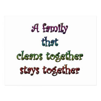 Clean Family Postcard