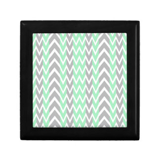 Clean Gray and Green Chevron Humps Gift Box