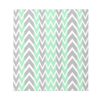 Clean Gray and Green Chevron Humps Notepad