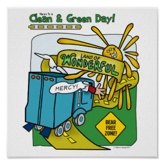 Clean & Green Day! Poster
