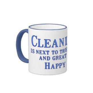 Clean Happy Place Ringer Mug