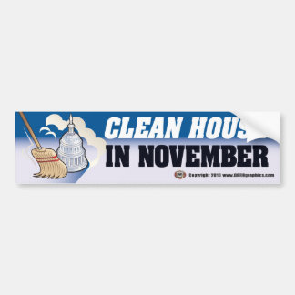 Clean House Bumper Sticker