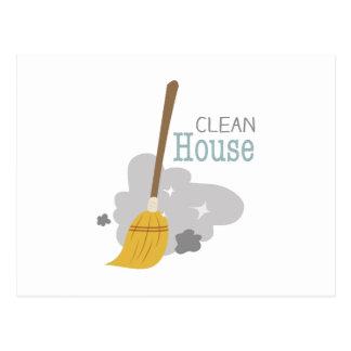 Clean House Postcard