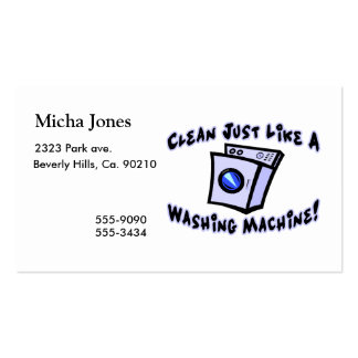 Clean Just Like A Washing Machine Pack Of Standard Business Cards