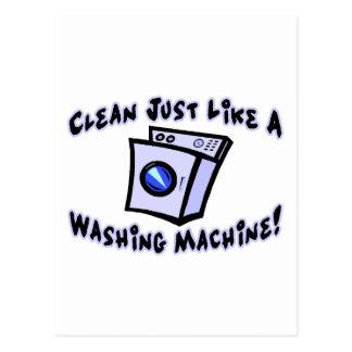 Clean Like A Washing Machine Postcard