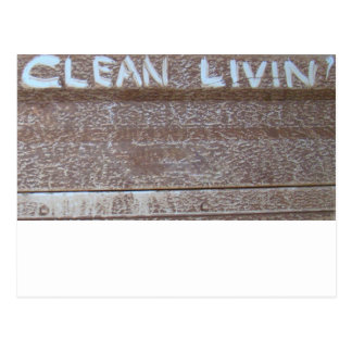 Clean Livin' 'Tailgate Talk' Postcard