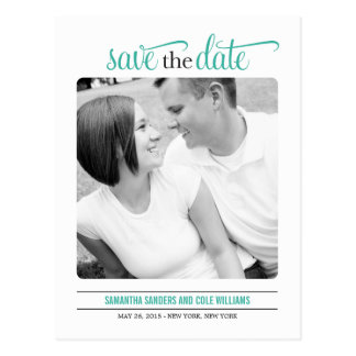 Clean Look Save The Date Card Postcard