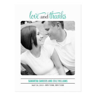 Clean Look Wedding Thank  You Card