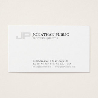 Clean Monogram Creative Graphic Plain Modern Business Card