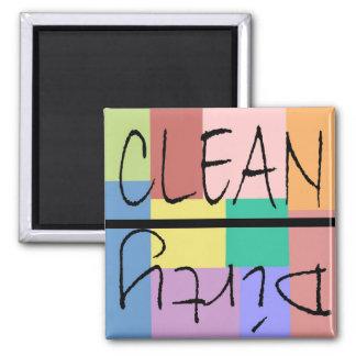 Clean n dirty block style magnet