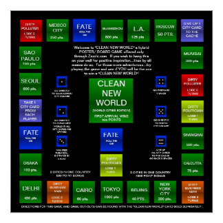 CLEAN NEW WORLD BOARD GAME (WORLD EDITION) POSTER