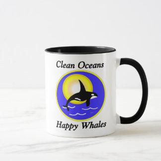 Clean Oceans Happy Whales Mug